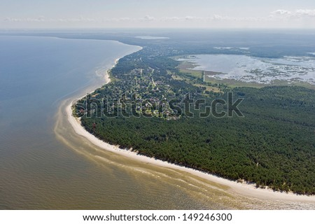 Coast line of the Baltic Sea  - stock photo