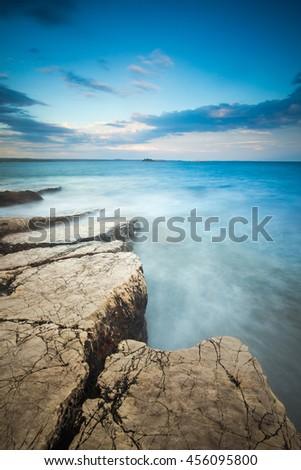 Coast near Rovinj, Croatia - stock photo