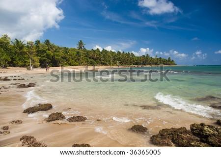 Coast of Atlantic ocean in Puerto Rico - stock photo