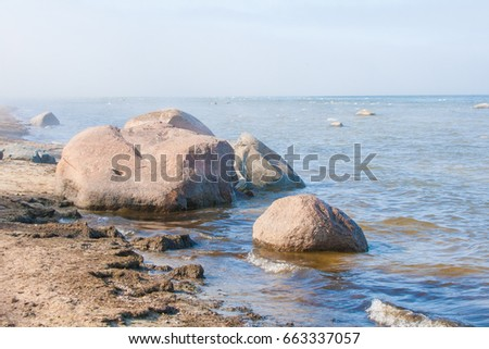 Coast of Baltic sea in Latvia