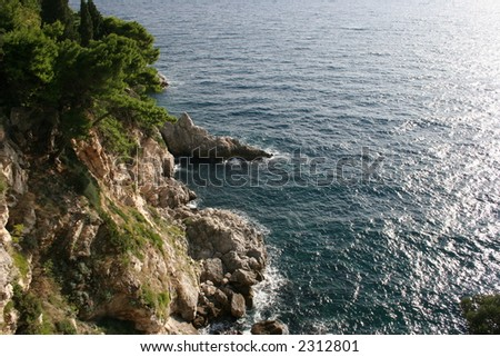 Coast of Dubrovnik, Croatia. - stock photo