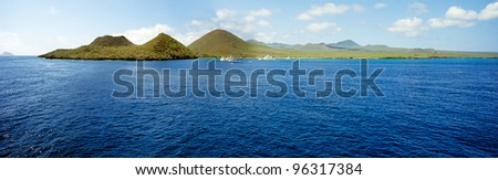 Coast of Floreana, Galapagos - stock photo