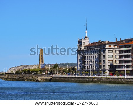 Coast of Getxo near Bilbao, Biscay, Basque Country, Spain