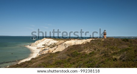 Coast of Martha´s Vineyard, beautiful weather, Massachusetts, New England, USA,