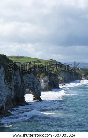 Coast of Northern Ireland - stock photo