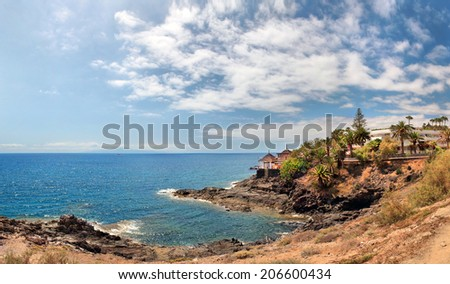 Coast of the Atlantic Ocean, Tenerife, Spain - stock photo