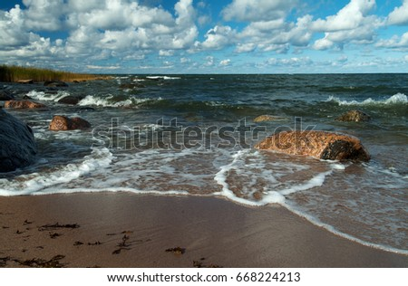 Coast of the Baltic Sea, Estonia.