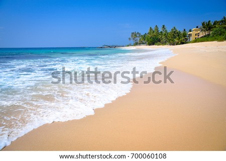 Coast of the Indian Ocean in Sri Lanka