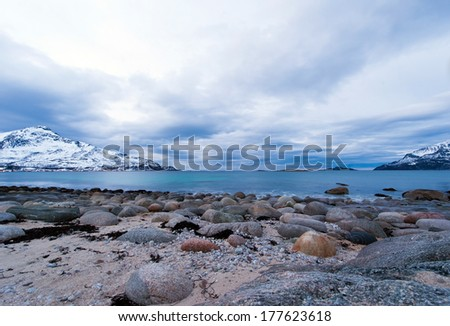 Coast of the Norwegian Sea  - stock photo