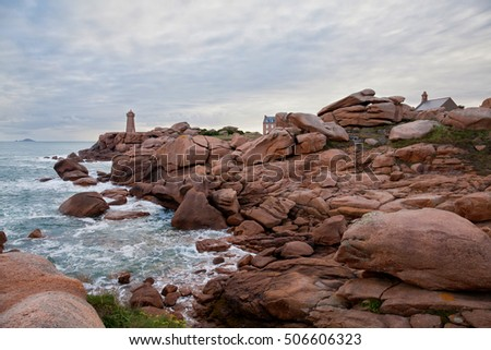 Coast of the Pink Granite, Brittany, France