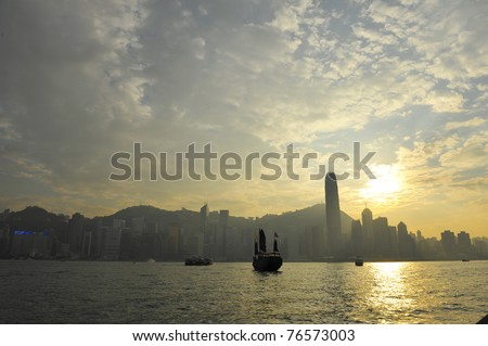 Coast on the island of Hong Kong