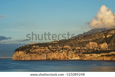 "Coast view of ""Sorrento"" near Naples in Italy"