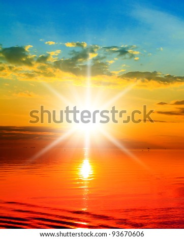 Coast View Over Water - stock photo