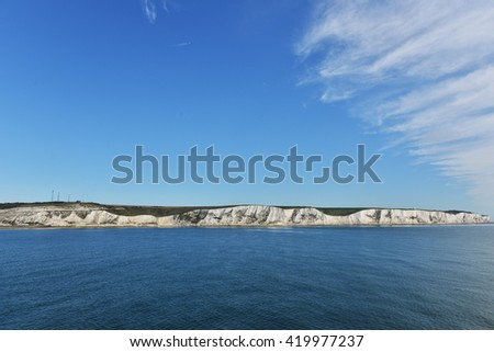 Coast view with amazing white clouds