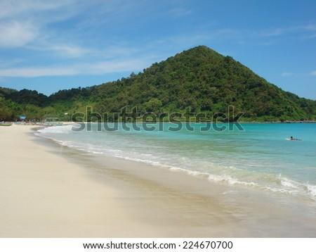 coastal beach scenery at Bali. a island in Indonesia - stock photo