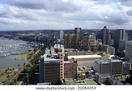 coastal city view - stock photo