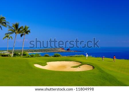 Coastal Golf Course - stock photo