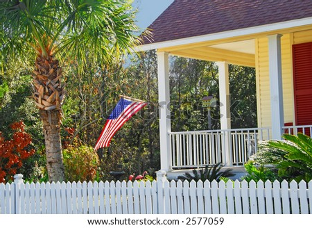Coastal Home with Picket Fence