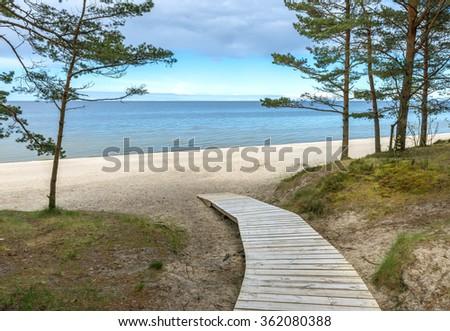 Coastal landscape at the famous resort of Jurmala, Latvia - stock photo