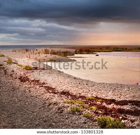 Coastal landscape of a small island i - stock photo