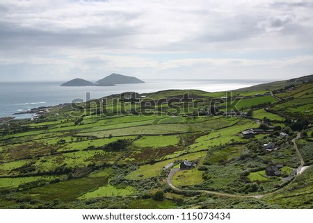 Coastal landscape of Ireland - stock photo