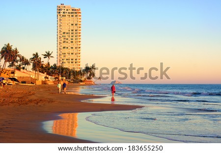Coastal mazatlan Mexico - stock photo