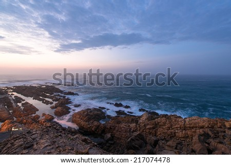 Coastal rocks in Mossel Town, South Africa  - stock photo