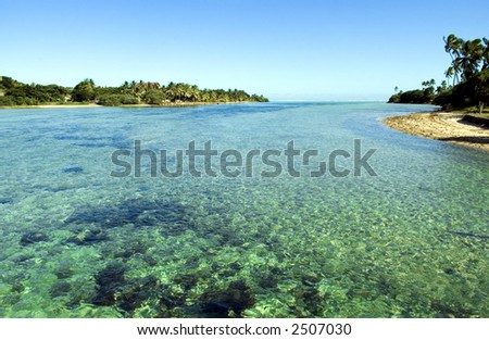 Coastal scene in Fiji