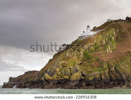 Coastal scene on Sark Lighthouse