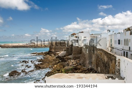 Coastal town of Asilah, Morocco.