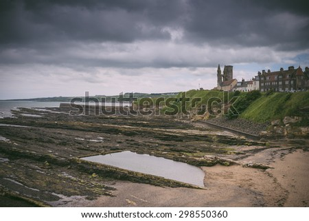 Coastal view from St Andrews castle, Scotland