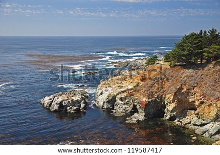 Coastal Vista on Pacific Coast Highway, California