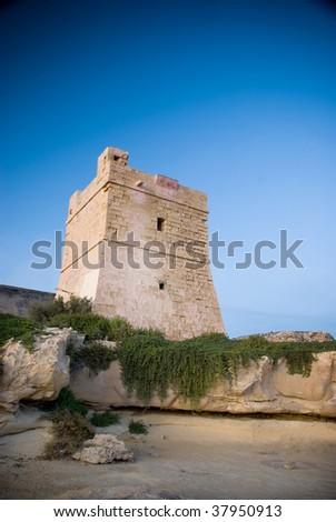 Coastal Watch Tower - stock photo