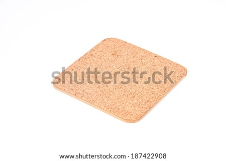 Coasters isolated on white background - stock photo