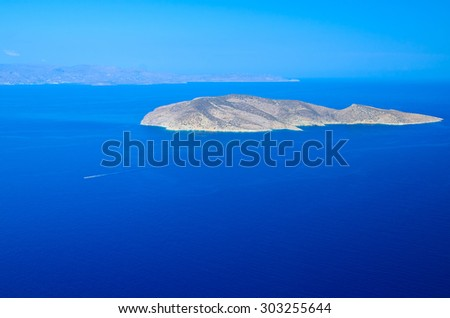 coastline along the Sea, Greece, Crete.  - stock photo