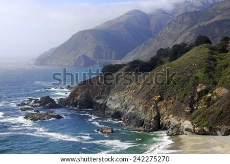 Coastline in Big Sur, California - stock photo