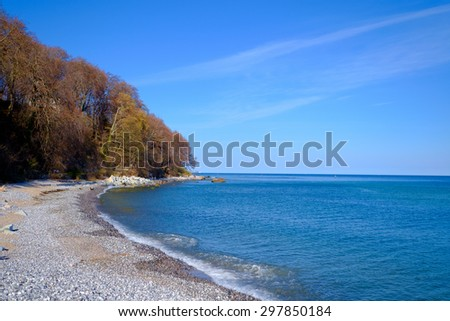Coastline nearby Sassnitz/Germany - stock photo