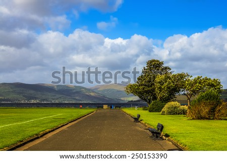 Coastline of Greenock in Scotland - stock photo