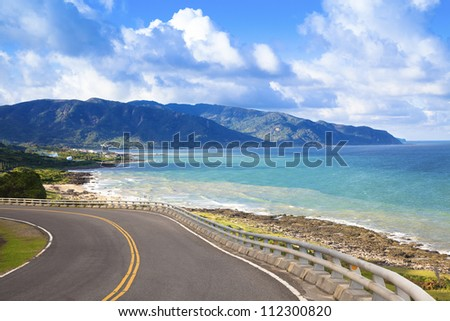 coastline of kenting national park in taiwan - stock photo