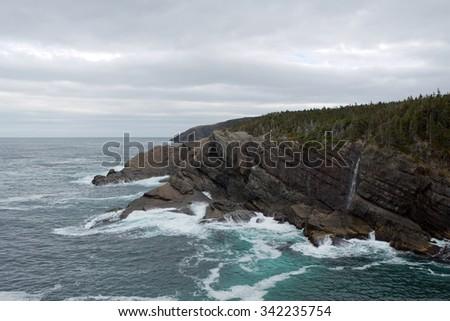 Coastline of Newfoundland, Canada. - stock photo