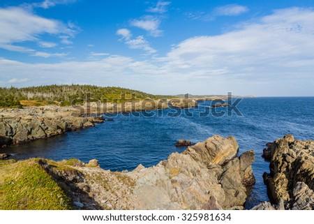 Coastline of Sydney, Nova Scotia - stock photo