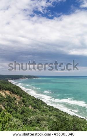 Coastline on the Black sea, Bulgaria - stock photo