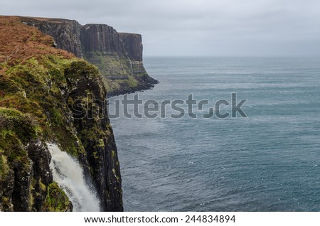 Coastline on the Isle of Skye - stock photo