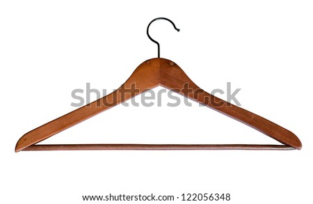 Coat Hanger, background is pure white, no shadows