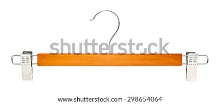 Coat hanger isolated on white background with clipping path - stock photo