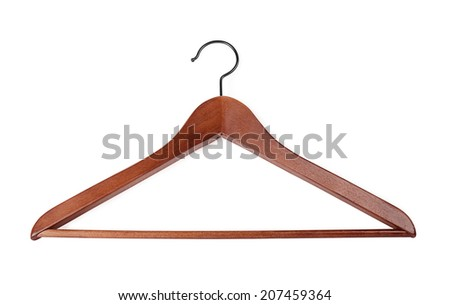 Coat hanger on a white background