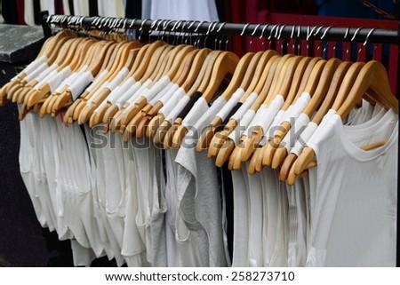 Coat liner with hangers - stock photo