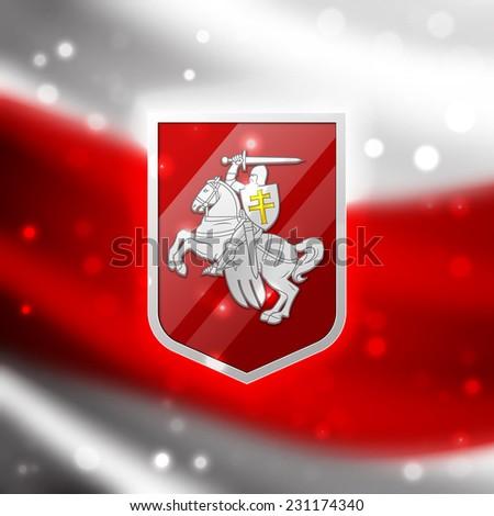 Coat of arms Belarus - stock photo