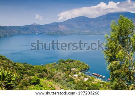 Coatepeque lake, Santa Ana, El Salvador, Central America - stock photo