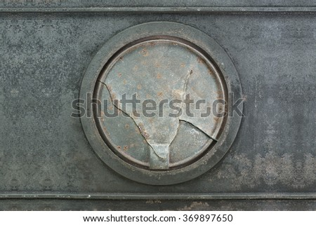 Coating texture of corrosion that is formed over ancient hotplate range - stock photo